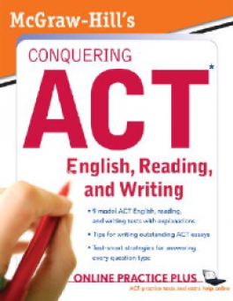 MH'S CONQUERING ACT ENGLISH, READING AND WRITING(1ST ED)