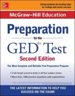MCGRAW-HILL PREPARATION FOR THE GED TEST (2ND EDN)