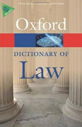 DICTIONARY OF LAW, A (8TH REVISED EDITION)