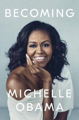 front cover of michelle obama's memoir called becoming