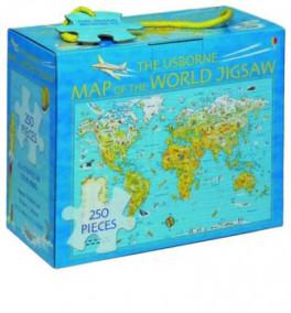 USBORNE MAP OF THE WORLD JIGSAW, THE (NEW ED.)