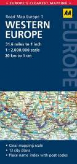 AA ROAD MAP EUROPE : WESTERN EUROPE (NEW ED.)