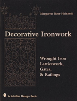DECORATIVE IRONWORK: WROUGHT IRON GRATINGS, GATES AND RAILINGS