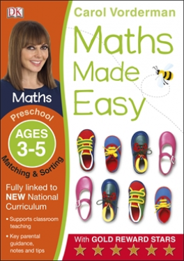 MATH MADE EASY MATCHING AND SORTING PRESCHOOL AGE 3-5 CAROL VORDERMAN