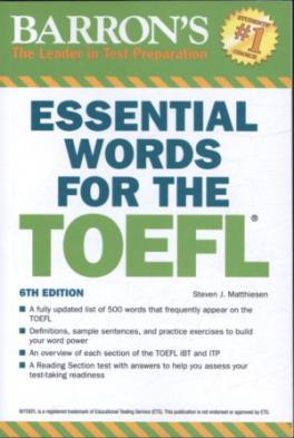 BARRON'S ESSENTIAL WORDS FOR THE TOEFL (6TH ED.)
