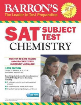 Barron S Sat Subject Test Chemistry 13th Ed Crb Kernion