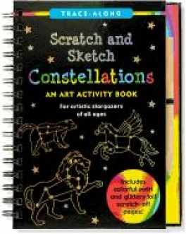 CONSTELLATIONS SCRATCH AND SKETCH TRACE-ALONG
