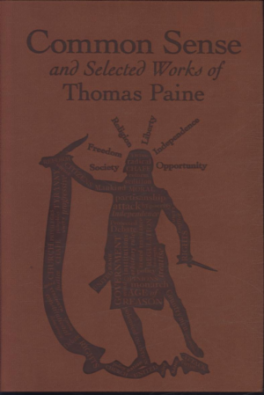 COMMONSENSE AND SELECTED WORKS OF THOMAS PAINE