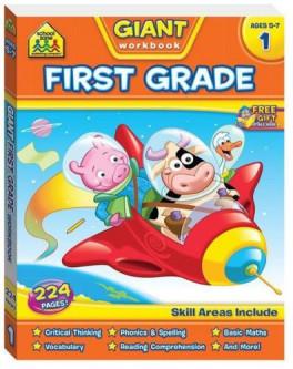 SCHOOL ZONE GIANT WORKBOOKS : FIRST GRADE