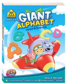 SCHOOL ZONE GIANT WORKBOOKS : ALPHABET