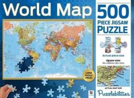 Jigsaw Puzzle World Map 500 Pcs Asiabooks Com