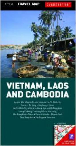 GLOBETROTTER TRAVEL MAP: VIETNAM, LAOS & CAMBODIA (7TH ED.)