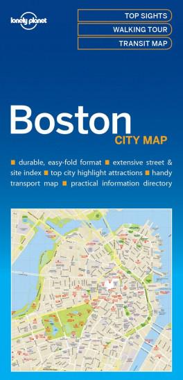 LP CITY MAP: BOSTON (1ST ED.)(2017) | Asiabooks.com City Map Of Boston on