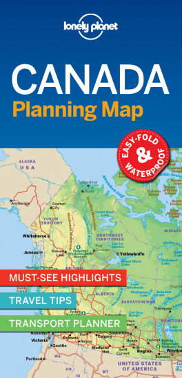 Travel Map Of Canada.Lp Planning Map Canada 1st Ed Lonely Planet Asiabooks Com