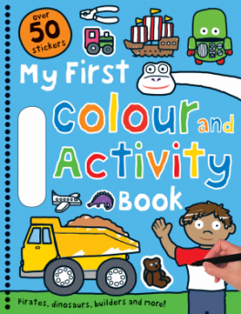 MY FIRST BLUE COLOUR AND ACTIVITY BOOK