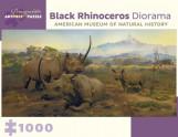 ARTPIECE PUZZLE: BLACK RHINOCEROS DIORAMA (1,000P)