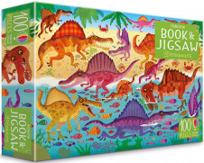 BOOK & JIGSAW: DINOSAURS (100 PCS)