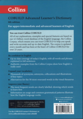 COLLINS COBUILD ADVANCED LEARNER'S DICTIONARY (8TH ED )