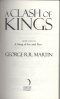 CLASH OF KINGS, A: BOOK 2 OF A SONG OF ICE AND FIRE