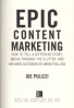 EPIC CONTENT MARKETING: HOW TO TELL A DIFFERENT STORY, BREAK THROUGH THE CLUTTER, & WIN MORE CUSTOMERS BY MARKETING LESS