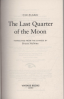 LAST QUARTER OF THE MOON, THE