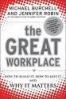 GREAT WORKPLACE, THE: HOW TO BUILD IT, HOW TO KEEP IT, AND WHY IT MATTERS