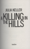KILLING IN THE HILLS, A