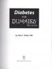DIABETES FOR DUMMIES (4TH ED.)