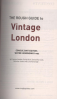 ROUGH GUIDE, THE: VINTAGE LONDON (SHOPPING-LIFESTYLE-CULTURE)