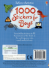 1000 STICKERS FOR BOYS BOOK