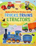 TRAINS, TRUCK & TRACTORS (USBORNE MAKE A PICTURE STICKER BOOK)