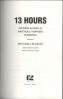 13 HOURS: THE INSIDE ACCOUNT OF WHAT REALLY HAPPENED IN BENGHAZI MITCHELL ZUCKOFF WITH THE ANNEX SECURITY TEAM