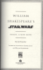 WILLIAM SHAKESPEARE'S STAR WARS: VERILY, A NEW HOPE