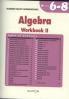 ALGEBRA WORKBOOK II